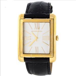 Michael Kors black gold dress leather watch unisex